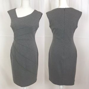 London Times Dresses - LONDON TIME Gray Sheath Sleeveless Dress-Size 8